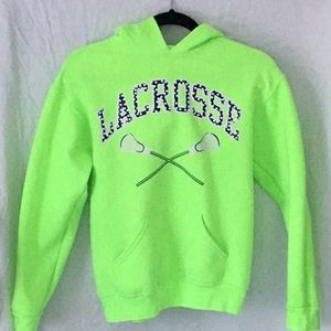 Jerzees Lacrosse Sweatshirt Neon youth L